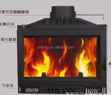 inset 130 square meters heating area wood burning stove