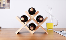 V Shape 4 Bottle Tabletop Wine Holder Wooden/Solid Wood Wine Rack