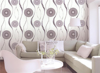 home decoration morden wheel design vinyl 3D wall paper of china wallpaper factory