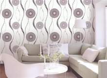 home decoration morden wheel design vinyl 3D wall paper from china wallpaper factory