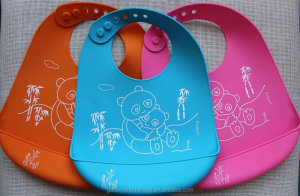 Colorful Baby Silicone Bib
