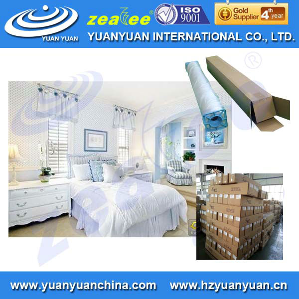 Stretched clear Eco solvent paintable classical design non woven wallpaper for home in roll