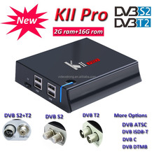 2017 promotion sale cheapest 2GB KII Pro S905D Combo TV box 2G 16G Android 7.1 DVB S2 T2 4k satellite receiver