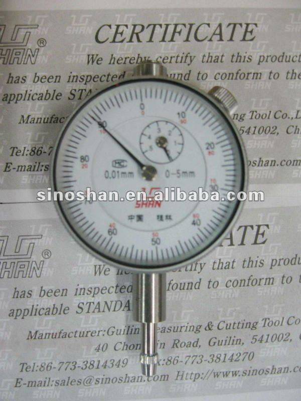 Stainless Steel 0-5mm Dial Indicators