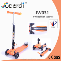 2014 new patent product high quality foldable kids kick scooter kick scooter motor
