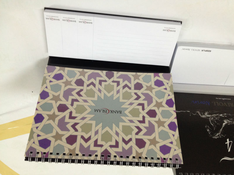 Custom-made calendar with sticky notes