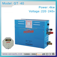 2014 best sale 4kw 220v 50-60hz steam generator for wet sauna and spa