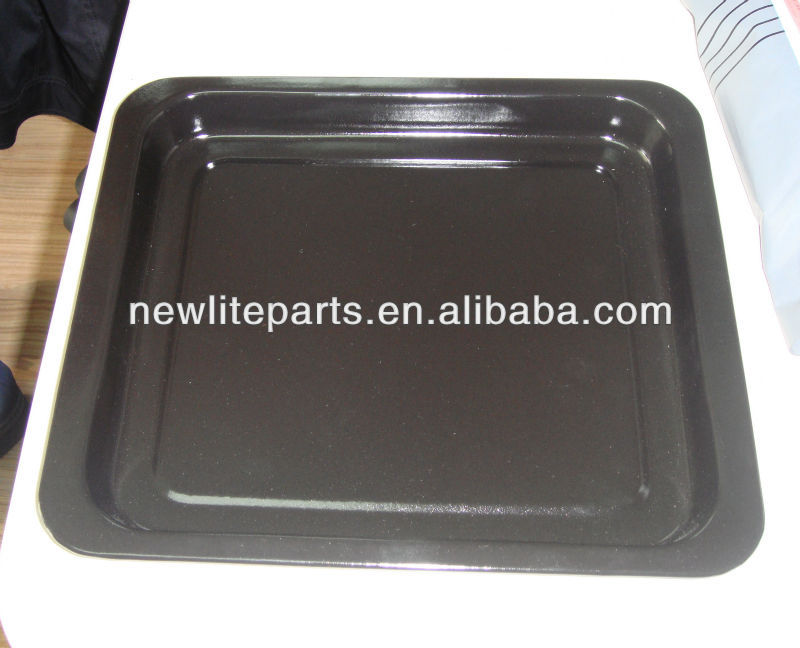 Enamelled drip pan grill tray