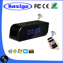 Cheapest Top Sell WiFI Clock Camera Table Clock Camera with Night Vision Pinhole Spy Hidden WiFi IP Camera Clock