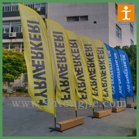 outdoor custom flags ,promotional feather flag with fiber pole
