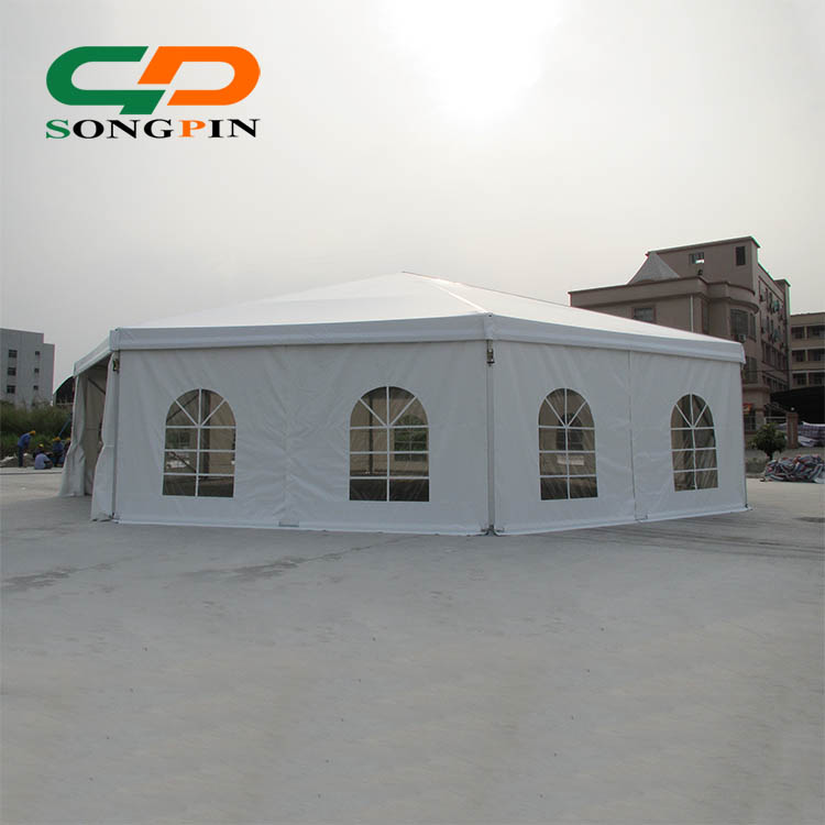 15m Outdoor big family luxury camping polygon party tent for sale