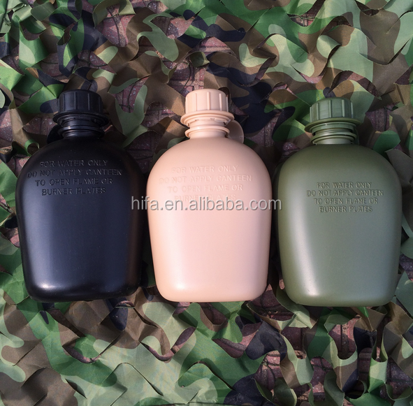 Other Police Plastic army water canteen military water bottle tactical drinking set 1L