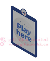 A2 Window Sign Holder with Magnetic Lens, Adhesive Dots - Black, remove and reposition able