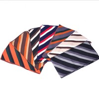 wholesale stripe pattern acrylic knitted scarf made in china
