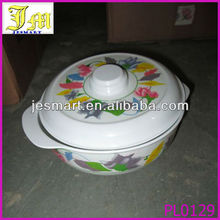 7 inches wholesale plastic microwave dessert bowl with lid cover