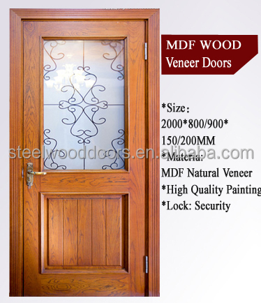 New Design Wooden Flush Room Door Panel Price