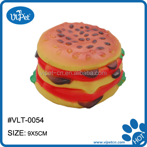 Soft Squeaky Pet Vinyl Toy for Dogs of Small Hamberger