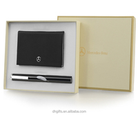 The classic high quality business customized business office combination gift set cardholder +business pen for man
