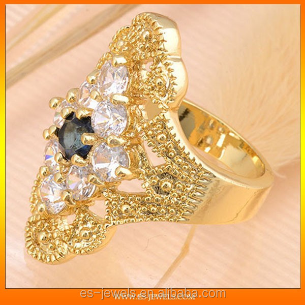 fashion jewelry ring inlaid CZ metal rings