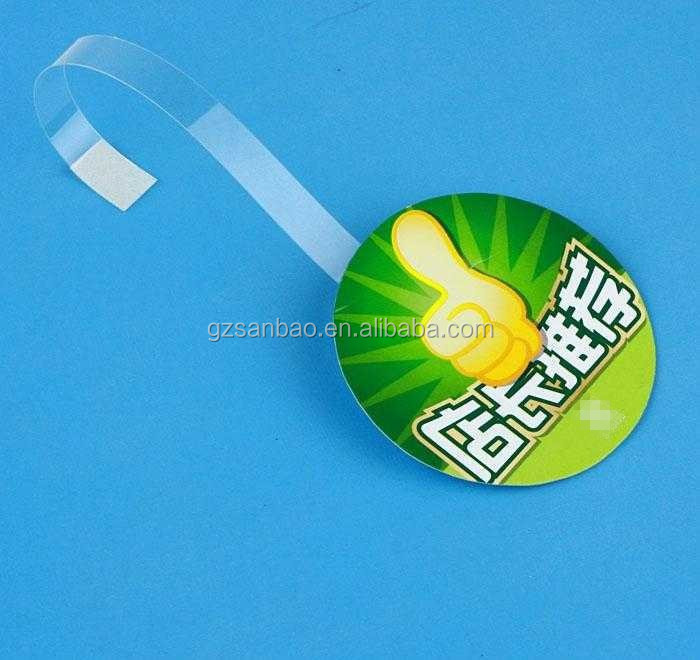 Alibaba China Factory Price Top Sell PP PVC Advertising Promotional Shelf Wobblers Plastic Circle Dangler