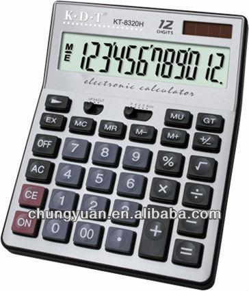 12 digit solar battery electronictexas instruments calculator KT-8320H