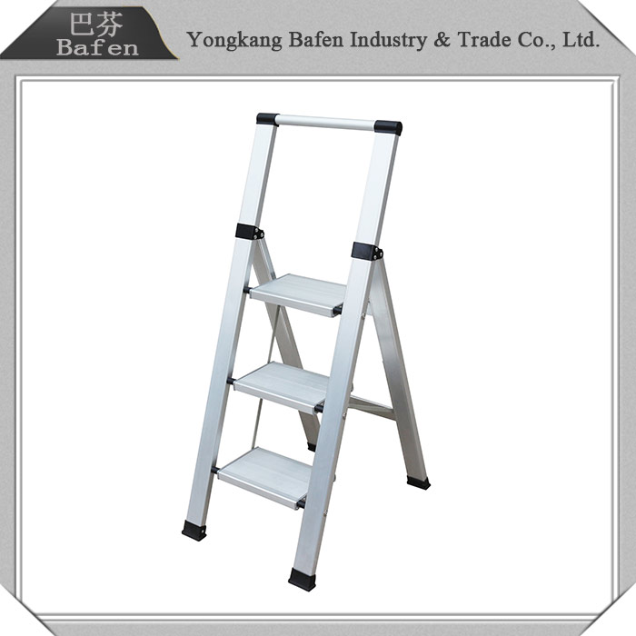 Wholesale products 3 step aluminium folding ladder