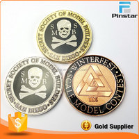 Custom Metal Pirate Coins with Skull Cross Bone High Qualtiy Coin