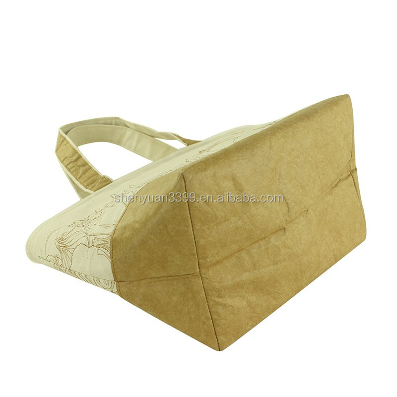 2016 New fashion canvas tyvek paper bag custom tyvek shopping bag Tyvek Handbag with printing