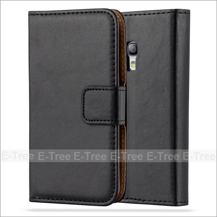 Business Style Magnetic PU Leather Case Hard PC Case Inside Cover For Samsung Galaxy S3 MINI With Free Screen Protector