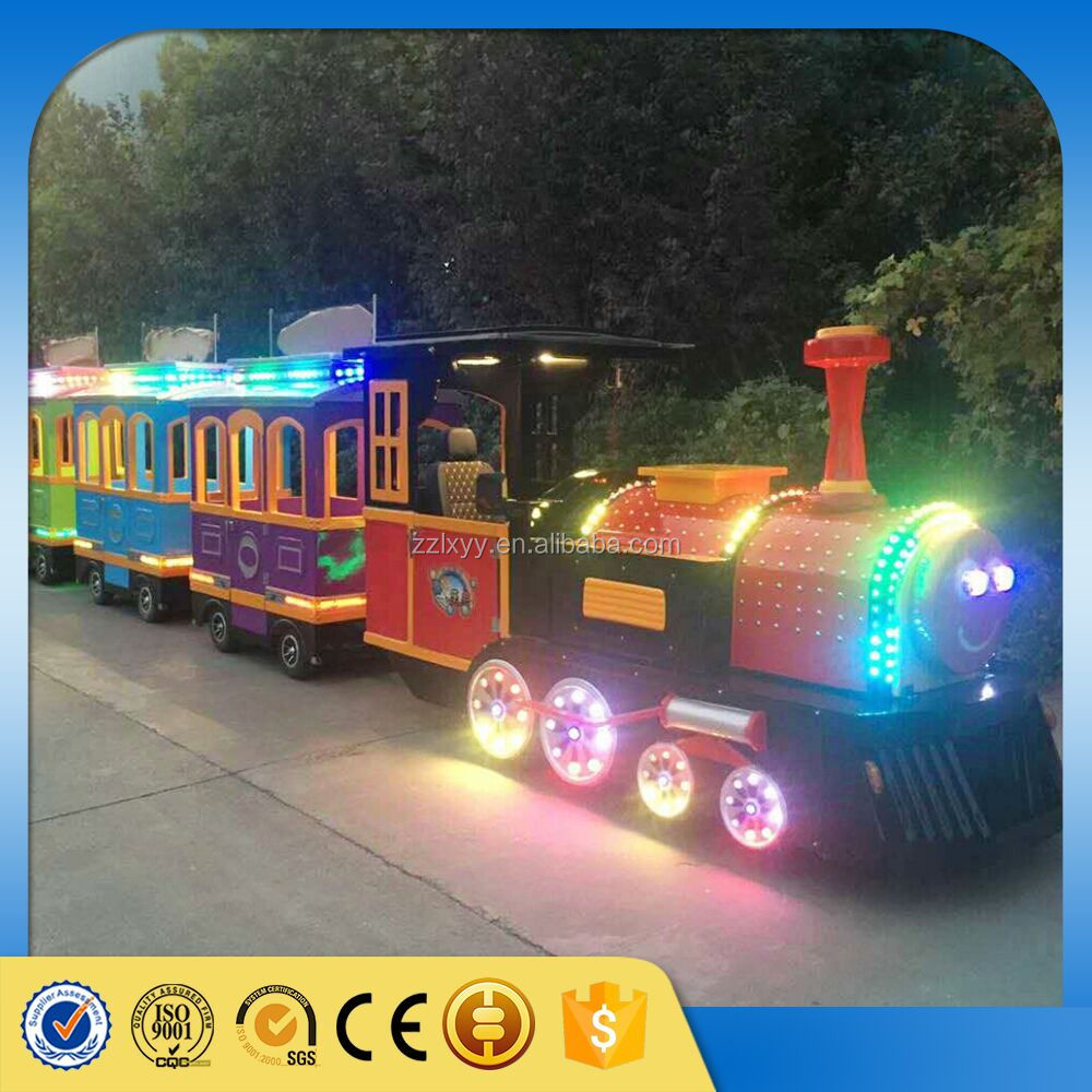 New 2016 attraction park equipment amusement kiddie rides trackless train for sale