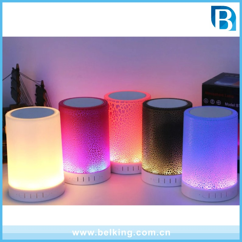 Hot Product Wifi Wireless Rechargeable Touch Lamp Bluetooth Speaker With Colorful Changing Led Light Lamp For Laptop Computer