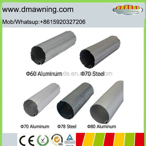 Sunshade awning roller keyway tube