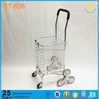 stair-climbing folding vegetable metal shopping cart trolley