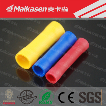 BV long types pvc/nylon butt insulated connectors