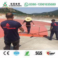Factory direct high quality synthetic waterproof iaaf certificate rubber running track(full pu/spray)