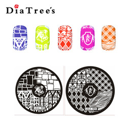 Custom DIY Manicure HeHe Series Small Nail Design Art Stamping Plate 5.5cm