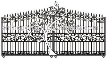 GYD-15G0300 A solid metal gate tree design