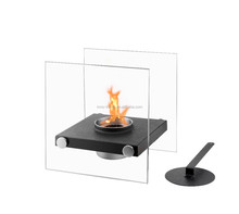 Portable glass bio ethanol fireplace