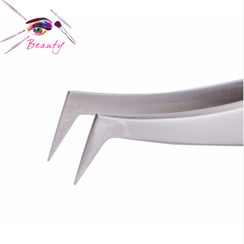 Factory wholesale top quality stainless steel eyelash extension tweezers