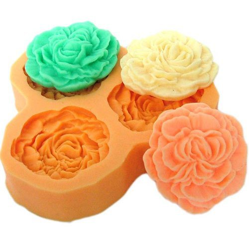 3.3cm Flowers Shape Silicone Mold Chocolate Cake Soap Mold Fondant Sugar Jelly Pudding Mould Craft Mold DIY Cube Tray