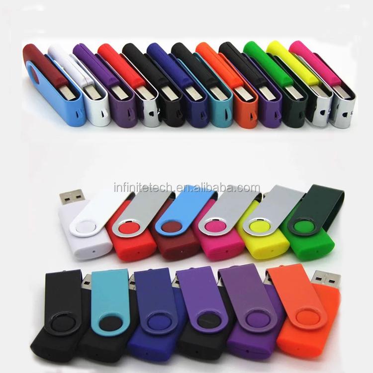 Promotional Custom Swivel Pendrive 16gb 2gb 4gb 8gb 32gb 64gb Colorful Usb Flash Drive 3.0 With Logo