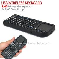 2.4G mini wireless keyboard and mouse for ipad Android TV Box Mobile Phone Smart Phone Wireless touchpad silicone mini keyboard
