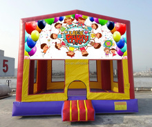 Party Bouncer Inflatables, Happy Inflatable Jumper with Art Panels