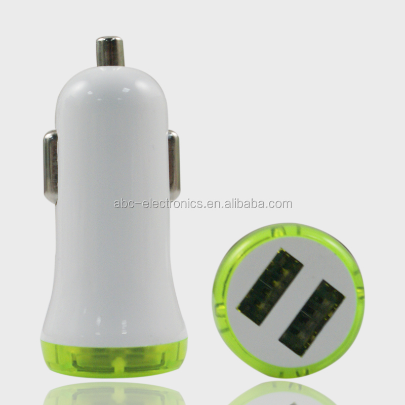 New Arrival Dual Usb Car Charger Adapter 5v 1a 2a 2.1a Voltage 12v 220v Car Battery Charger for Mobile Phone