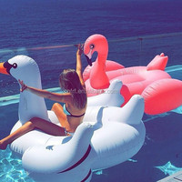 Custom water floating inflatable flamingo toy swan float plastic inflatable pegasus