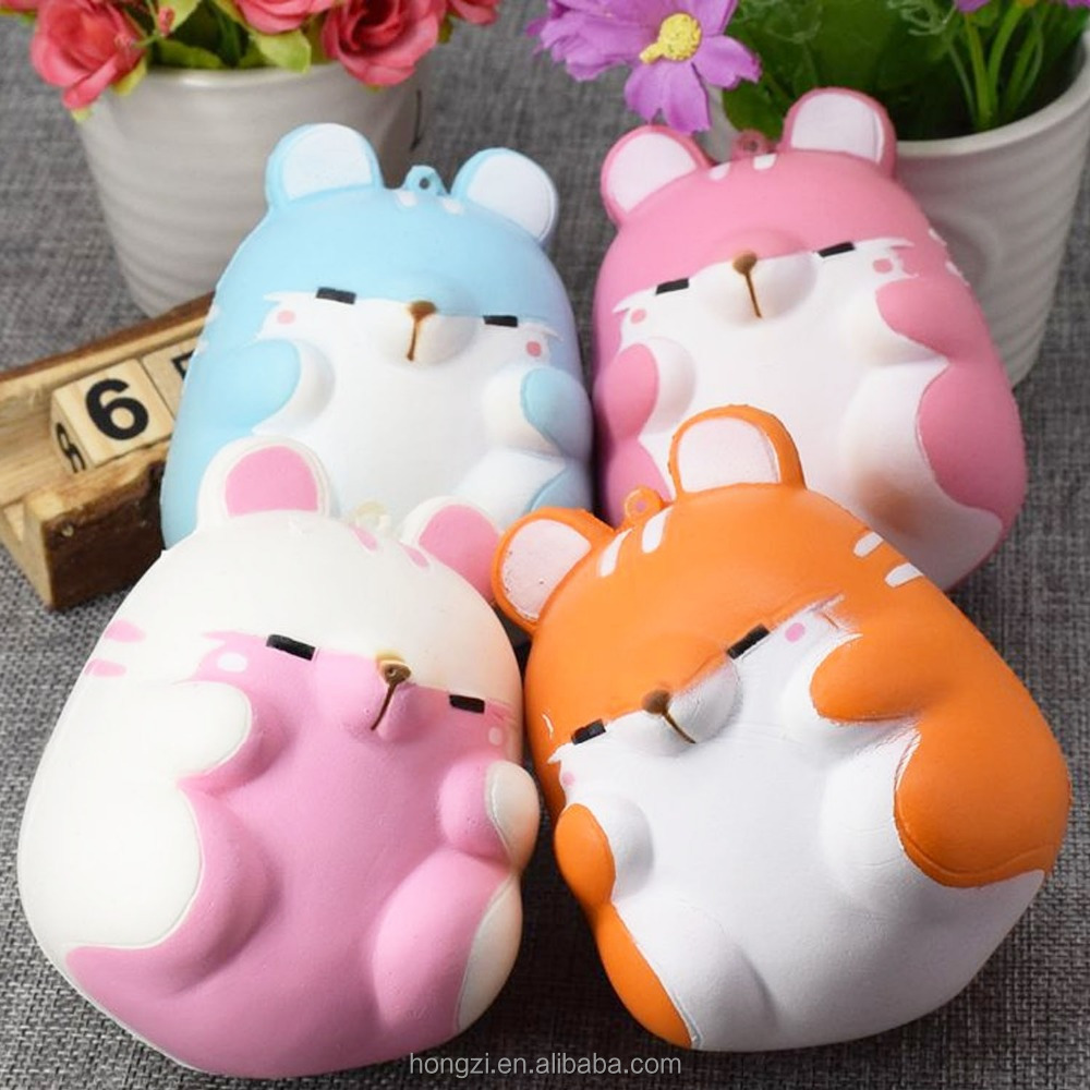 Cute Kawaii Soft Squishy Colorful Simulation Hamster <strong>Toy</strong> Slow Rising for Relieves Stress Anxiety Home Decoration