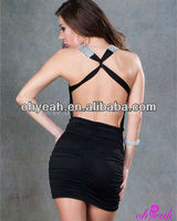 New arrival hot sexy ladies club wear backless dress patterns