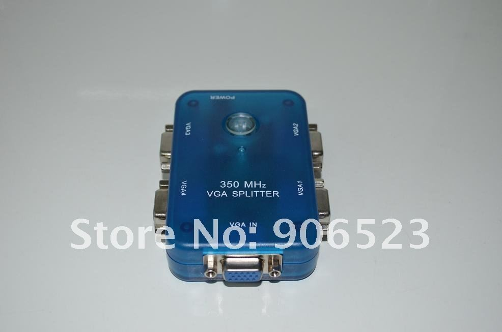MINI 3504A VGA splitter 350Mhz 1 in 4 ports out 1PC to 4 monitor