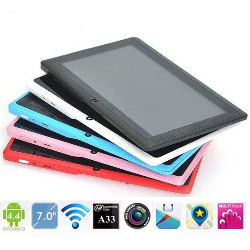 "Hot Sale 7"" Dual Core Tablet PC For Google For Android 4.4 With GPS WIFI Bluetooth Phone White SIM"