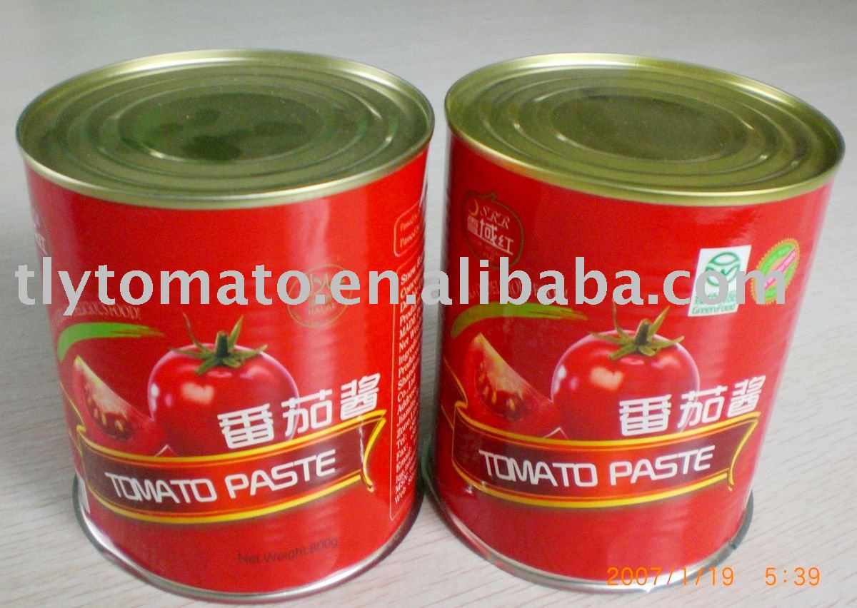 double concentrated freshed canned tomato paste